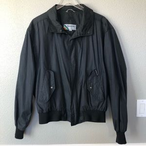 Vintage Members Only Jacket Large Black stranger L